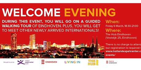 Welcome Evening for Internationals in Eindhoven: March 2020 tickets