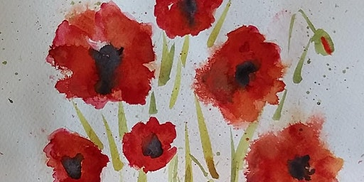 Learn how to paint watercolour flowers