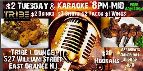 $2 Tuesday Karaoke +Hookah tickets