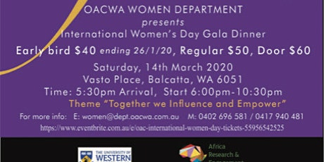 International Women's Day Gala 2020 tickets