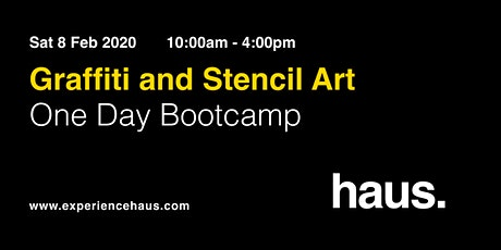 Graffiti and Stencil Art - One Day Bootcamp by Experience Haus tickets