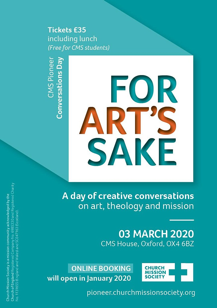 For Art's Sake - Pioneer Conversations Day 2020 image
