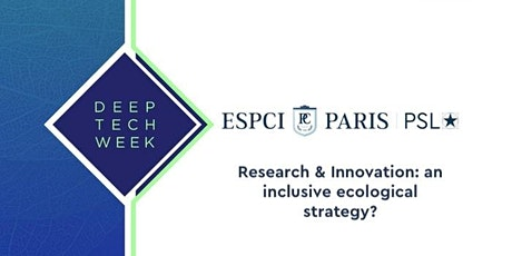 Research & Innovation: an inclusive ecological strategy? tickets
