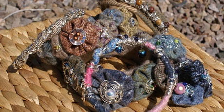 Design a wire and textile bracelet tickets