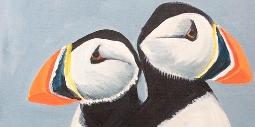 Puffins Family Paint with @BlaeberryRiverArt