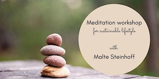 Meditation workshop for sustainable lifestyle