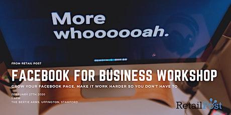 Facebook for Business Workshop tickets