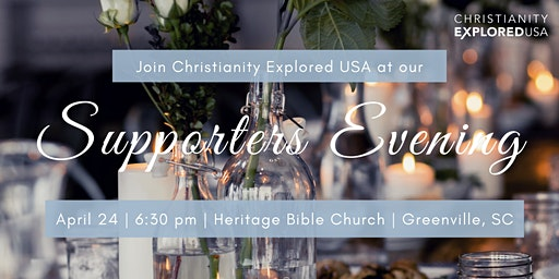 Supporter's Evening and Dinner for Christianity Explored USA
