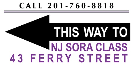 NJ SORA RENEWAL CLASSES  FEBRUARY 2020 - WEEKLY CLASSES tickets