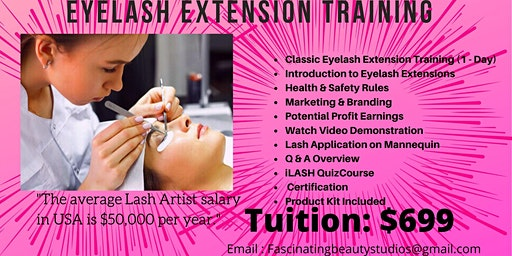 Eyelash Extension Training Intensive (Classic & Volume)