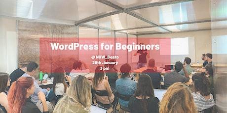 WordPress Workshop for Beginners tickets