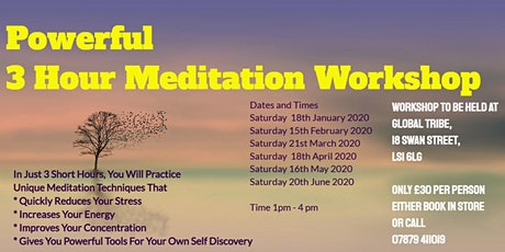 Meditation workshop for beginners tickets