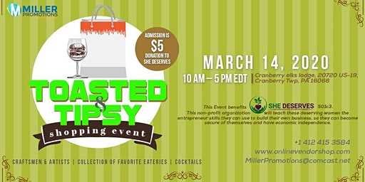 Toasted & Tipsy shopping event