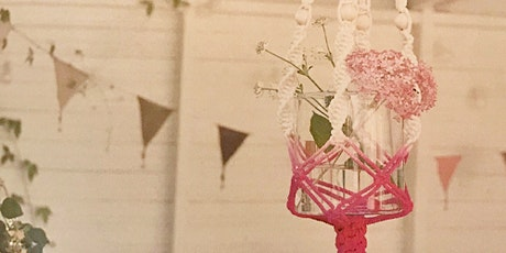 ADULT CRAFT WORKSHOP: Make your own Macrame Dip-Dyed Plant Hanger April 1st tickets