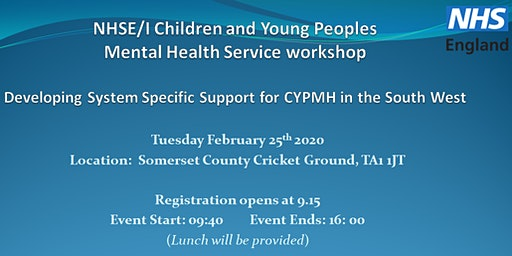 NHSE/I Children and Young Peoples Mental Health Service Workshop