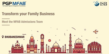ISB (PGPMFAB)Family Business Coffee Meet at Bhubneshwar tickets