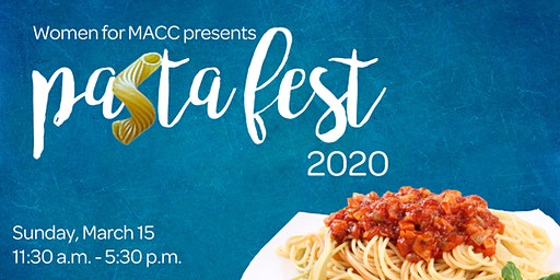 Pasta Fest 2020 supporting Women for MACC