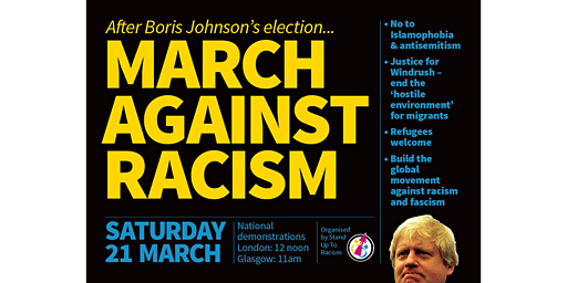 UN Anti-Racism Day Demonstration 2020 - Southampton transport