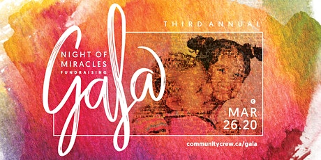 Community Crew's  3rd Annual Night Of Miracles Fundraising Gala tickets