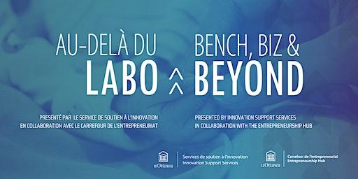 Au-Delà du Labo | Bench, Biz & Beyond