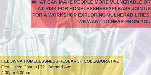 Vulnerabilities to Homelessness: Community Workshop