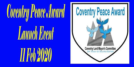 Launch of Coventry Peace Award tickets
