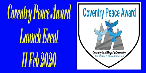 Launch of Coventry Peace Award