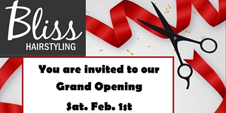 Grand Opening - Bliss Hairstyling tickets