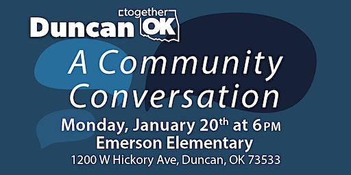 TOK Duncan: A Community Conversation