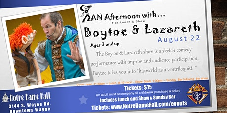 An Afternoon With... Boytoe & Lazareth tickets