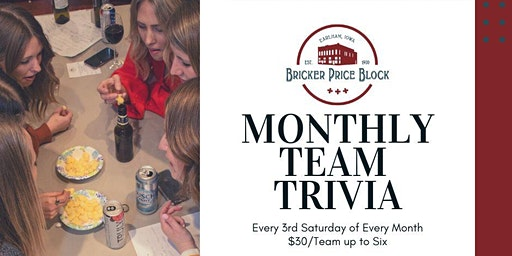 Team Trivia at Bricker-Price Block