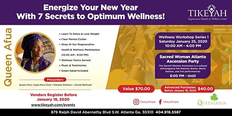 Energize Your New Year With 7 Secrets to Optimum Health tickets
