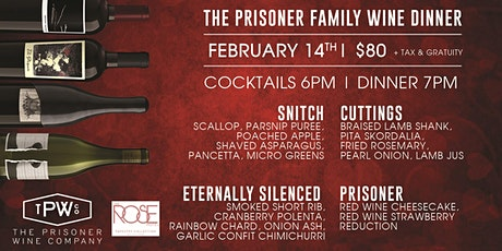 Prisoner Wine Dinner tickets