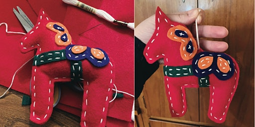 Hand Stitched Dala Horse
