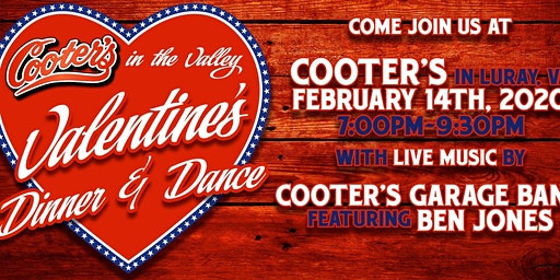 Cooter's Valentine's Dinner & Dance at Cooter's Luray