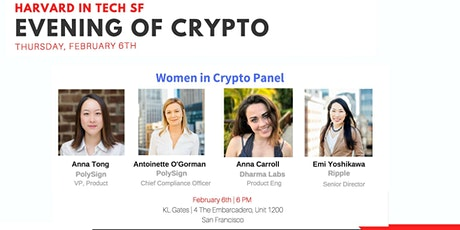 Harvard in Tech SF: Women in Crypto tickets