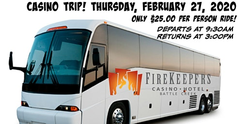 Casino Bus Trip to Firekeepers!