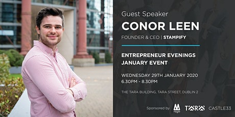 Entrepreneur Evenings January with Conor Leen, CEO of Stampify tickets