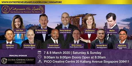 Entrepreneurs Are Leaders Singapore 7 & 8 March 2020 Morning tickets