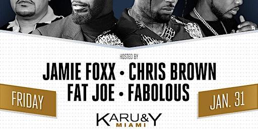 Jamie Foxx, Chris Brown, Fat Joe, Fabolous Super Game Weekend 2020 Karu&Y