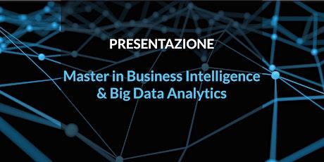 Presentazione Master in Business Intelligence & Big Data Analytics 9° Edizione biglietti
