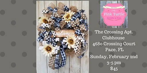Farmhouse Welcome Wreath Private Team Event for NF