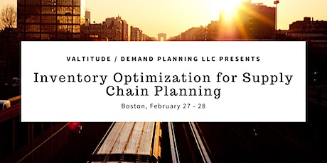 Inventory Optimization for Supply Chain Planning - Two-Day Workshop tickets