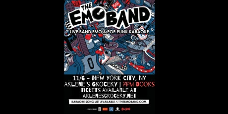 THE EMO BAND (Live Band Emo & Pop Punk Karaoke) at Arlene's Grocery (NYC) tickets