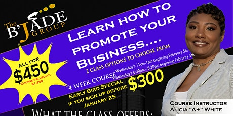 Business Marketing Promotions Class tickets