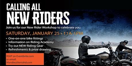 New Rider Workshop Buckminn's D&D Harley-Davidson tickets