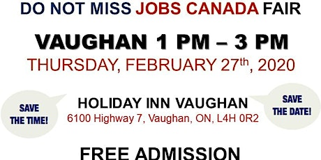 Vaughan Job Fair - February 27th, 2020 tickets