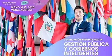Certificación Global en Gestión Pública y Gobiernos Inteligentes Tickets