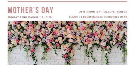 Mother's Day Lunch or Afternoon Tea at Number 10 Hotel tickets