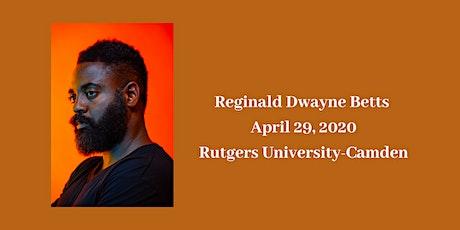Writers in Camden: Reginald Dwayne Betts tickets